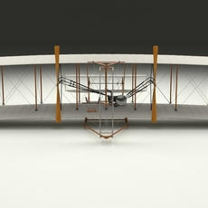 Rigged Wright Flyer 1903 3D Model