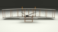 Animated Wright Flyer 1903 3D Model