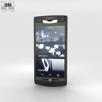 Vertu Signature Touch Pure Jet Red Gold 3D Model