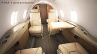 Learjet 31 cabin - interior 3D Model