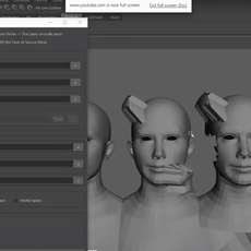 Maya Mesh Reorder / Transfer vertex position Tool for Maya 0.0.1 (maya script)