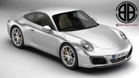 Porsche 911 Carrera 2017 3D Model
