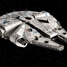 Star Wars Millenium Falcon v1 3D Model