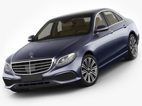Mercedes E-class exclusive sedan hybrid 2017 3D Model