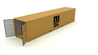 Shipping Container MSC 3D Model