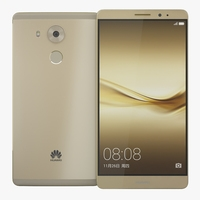 Huawei Mate 8 Gold 3D Model