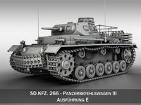 SD.KFZ 267 Panzerbefehlswagen - Command Tank 3D Model