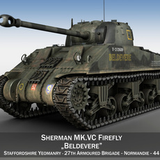 M4 Sherman MK.VC Firefly - Beldevere 3D Model