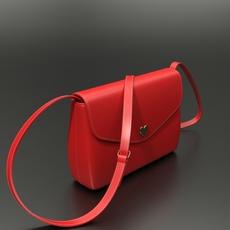 Red handbag 3D Model