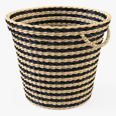 Wicker Basket Ikea Maffens 3D Model