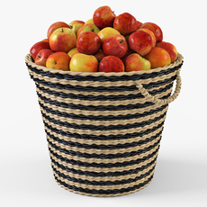 Wicker Apple Basket Ikea Maffens 3D Model