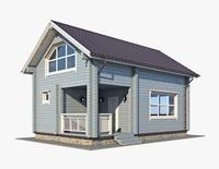 Log House 03 3D Model