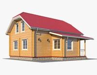 Log House 04 3D Model