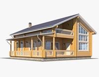 Log House 05 3D Model