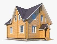 Log House 06 3D Model