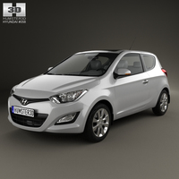 Hyundai i20 3-door 2013 3D Model
