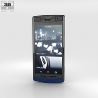Vertu Signature Touch Pure Navy Lizard 3D Model