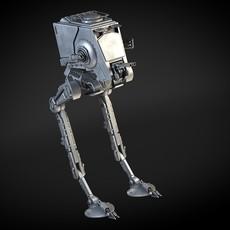 Star Wars AT-ST transporter 3D Model