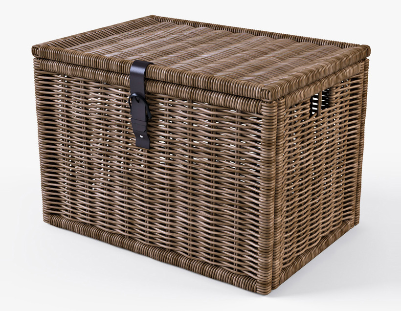 wicker rattan chest ikea byholma 3d model. Black Bedroom Furniture Sets. Home Design Ideas