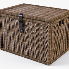 Wicker Rattan Chest Ikea Byholma 3D Model