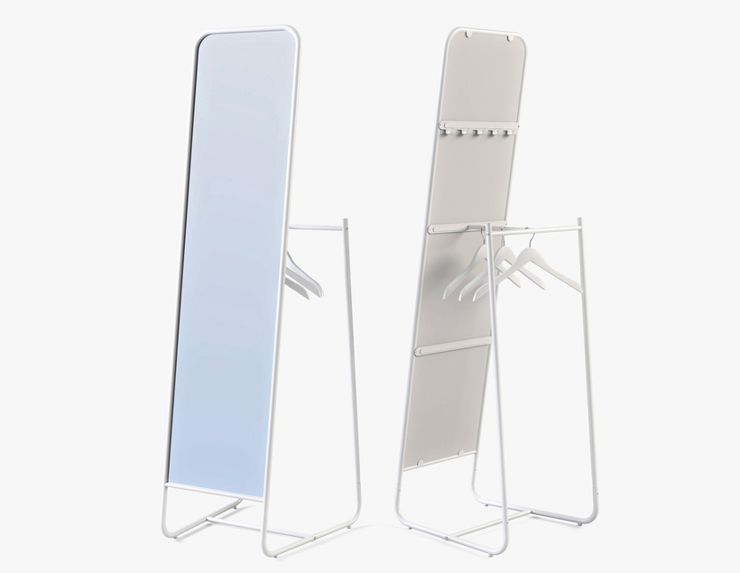 Floor Mirror Ikea Knapper 3D Model