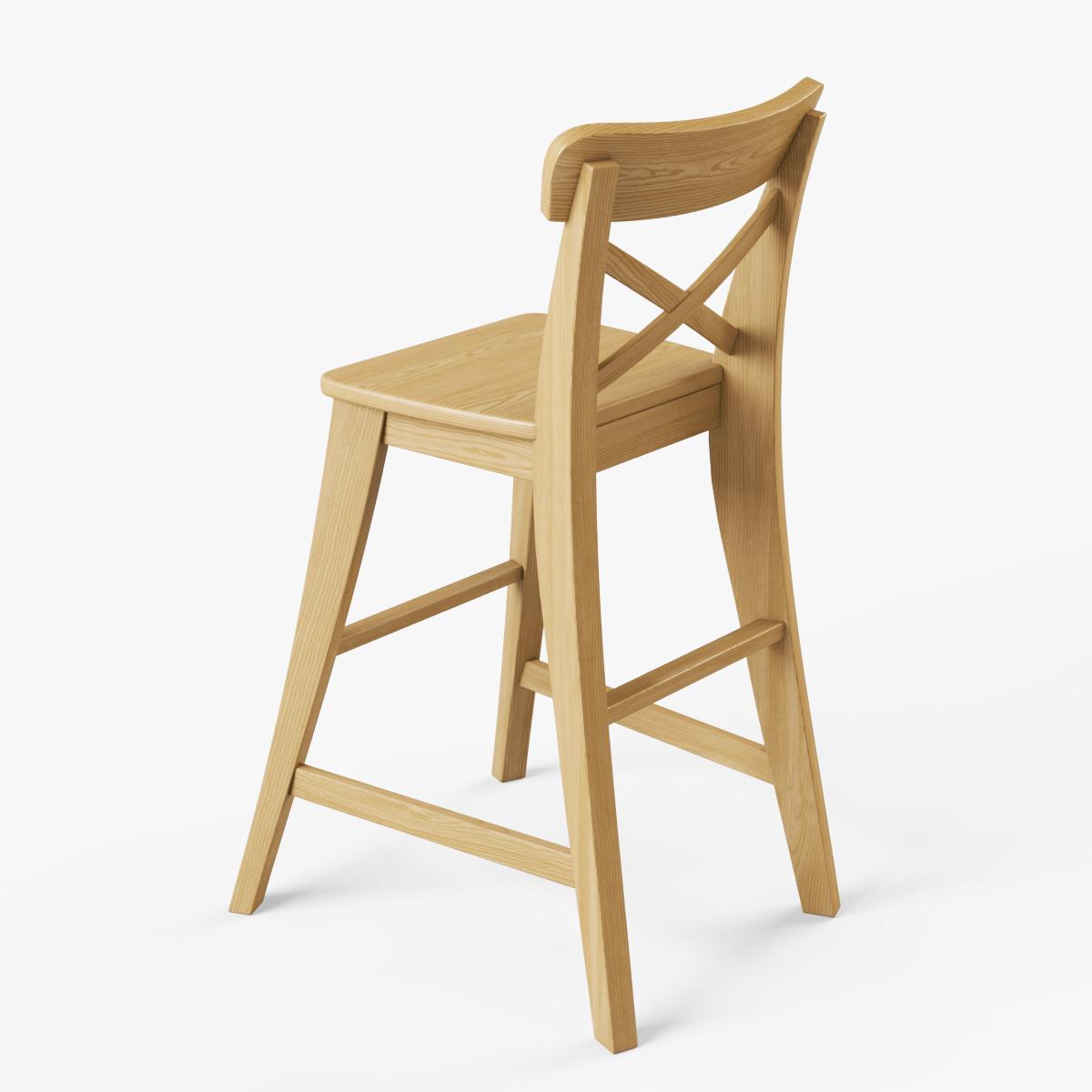 Junior Chair Ikea Ingolf 3D Model