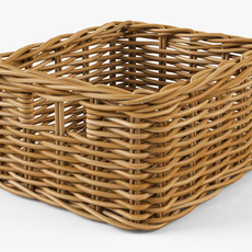 Wicker Basket Ikea Byholma 1 Natural 3D Model