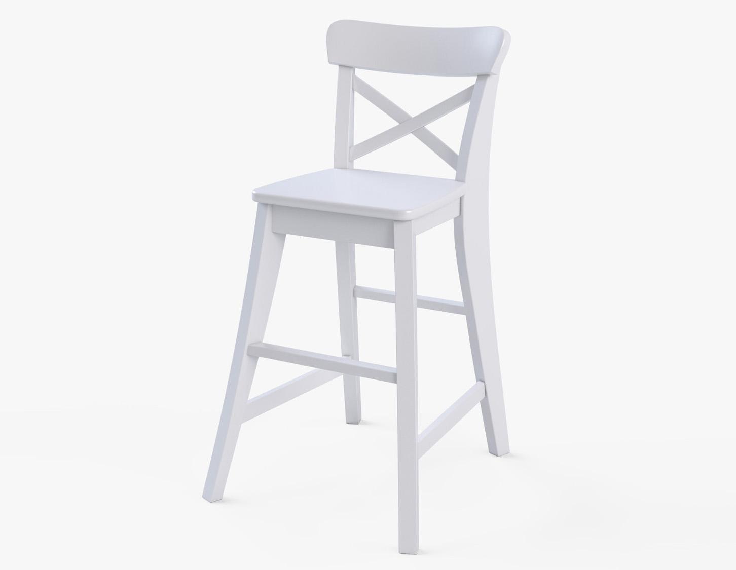 Junior Chair Ikea Ingolf White 3D Model