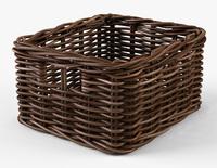 Wicker Basket Ikea Byholma 1 Brown 3D Model