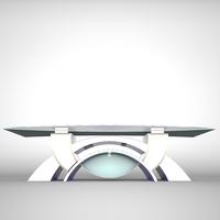 Tv Studio News Desk 002 3D Model