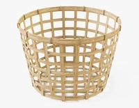 Wicker Basket Ikea Gaddis diameter 32 3D Model