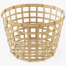Wicker Basket Ikea Gaddis diameter 32 3D Model