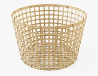 Wicker Basket Ikea Gaddis diameter 50 3D Model