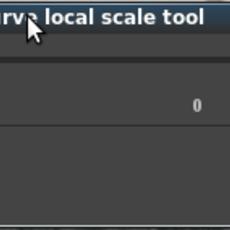 NP_curveLocalScale for Maya 0.1.0 (maya script)
