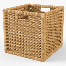 Rattan Basket Ikea Branas Natural Color 3D Model