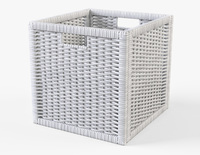 Rattan Basket Ikea Branas White Color 3D Model