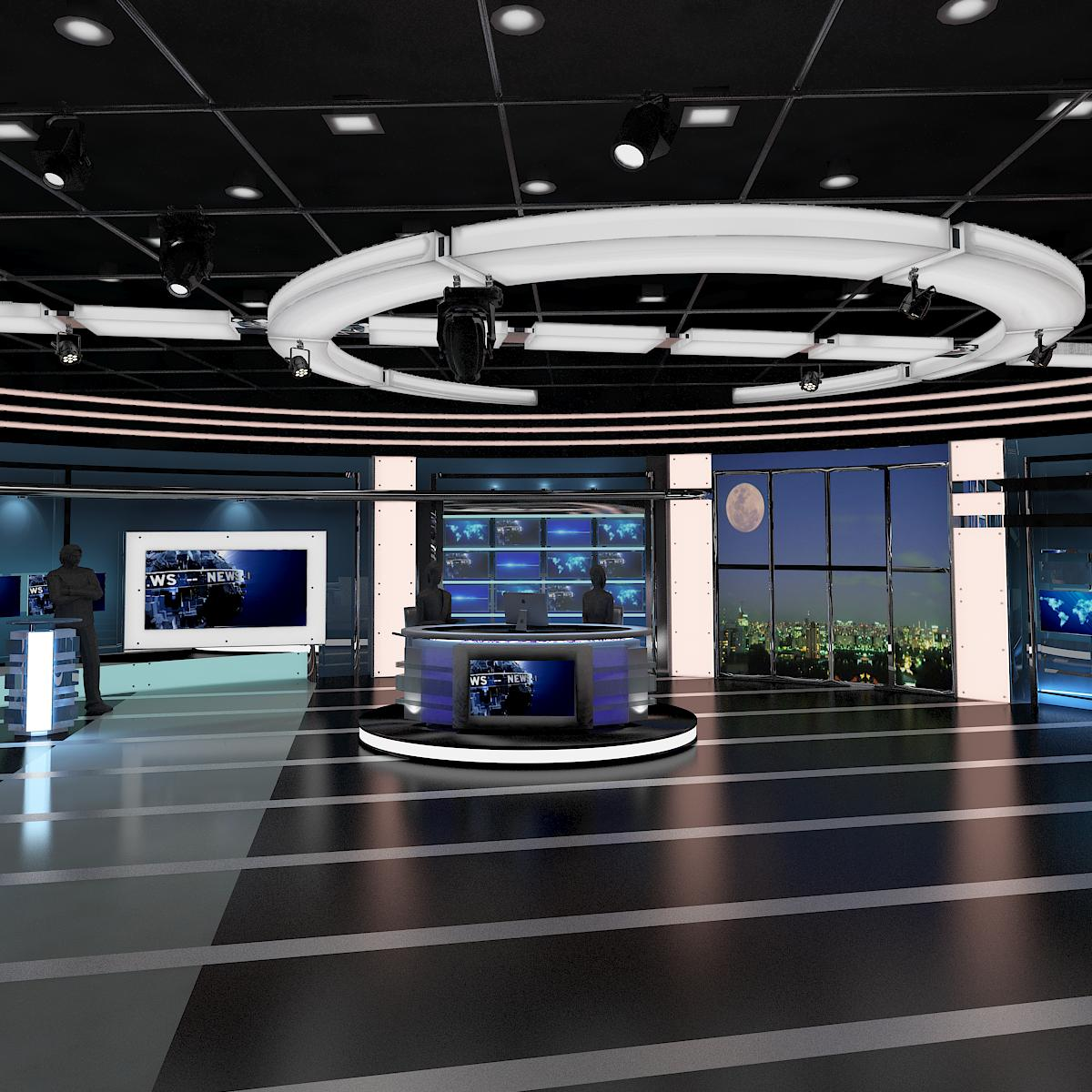 Television Studio Set