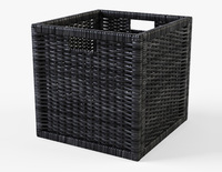 Rattan Basket Ikea Branas Black Color 3D Model