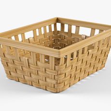 Wicker Basket Ikea Knarra 1 Natural Color 3D Model