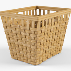 Wicker Basket Ikea Knarra 2 Natural Color 3D Model