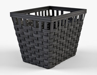 Wicker Basket Ikea Knarra 2 Black Color 3D Model