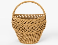 Wicker Basket 01 3D Model