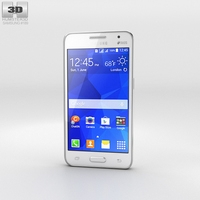 Samsung Galaxy Core II White 3D Model