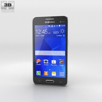 Samsung Galaxy Core II Black 3D Model