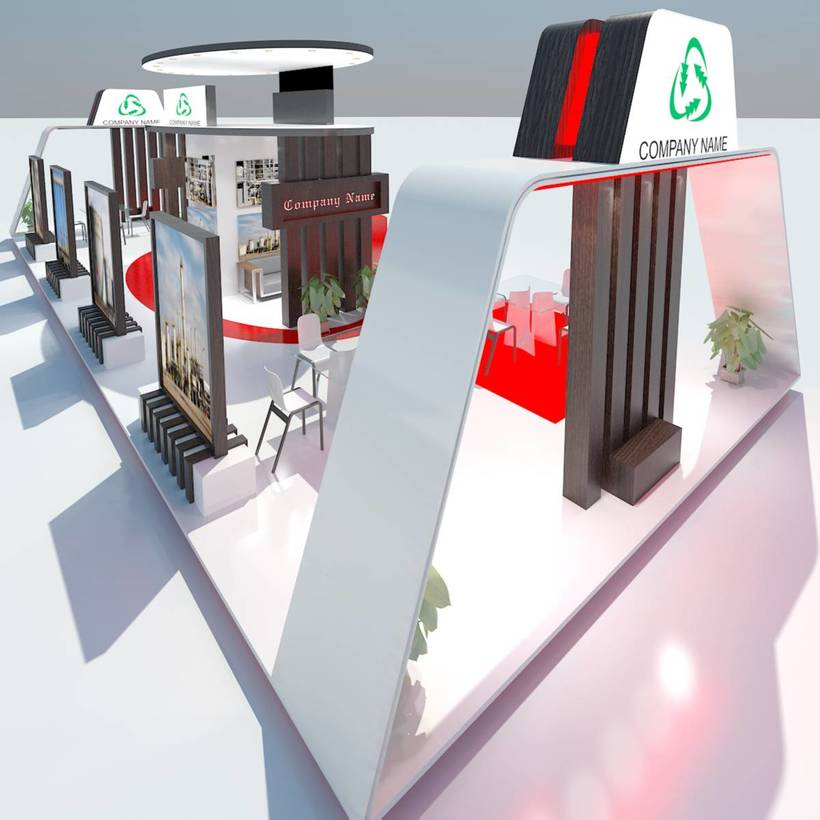 Exhibition Booth Obj : Exhibition stand 032 3d model