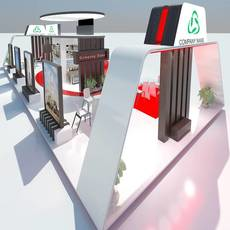 Exhibition Stand 032 3D Model