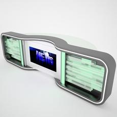 Tv Studio News Desk 005 3D Model