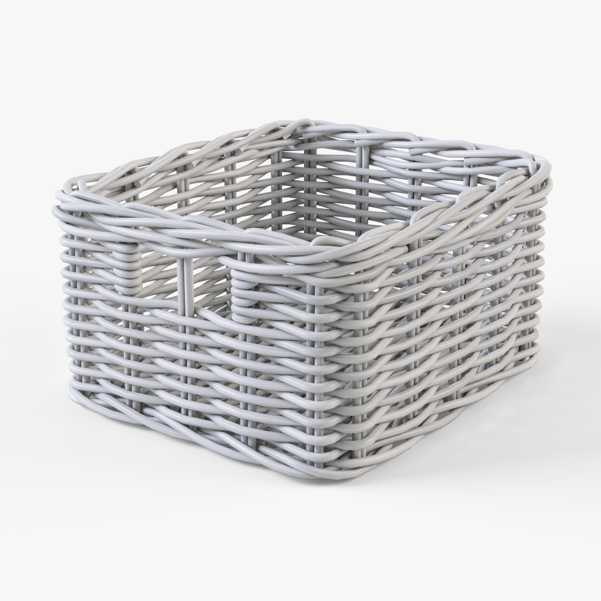 wicker basket ikea byholma 1 set 4 color 3d model. Black Bedroom Furniture Sets. Home Design Ideas