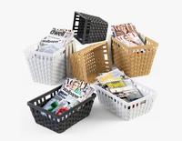 Wicker Basket Ikea Knarra 3D Model