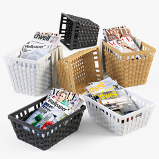 Wicker Basket Ikea Knarra 3D Model